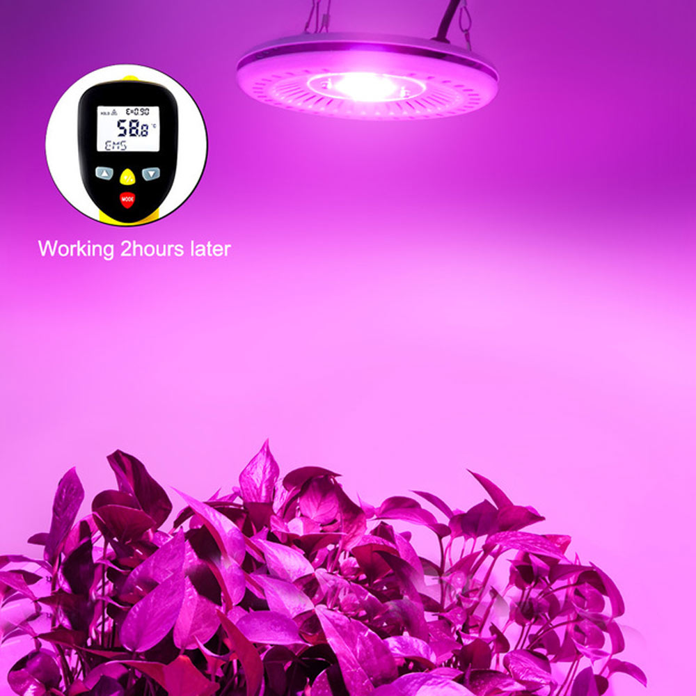 COB LED Grow Light Full Spectrum 100W UFO LED Grow Light Lamp Waterproof IP67 for Vegetable Flower Lndoor Hydroponic Greenhouse