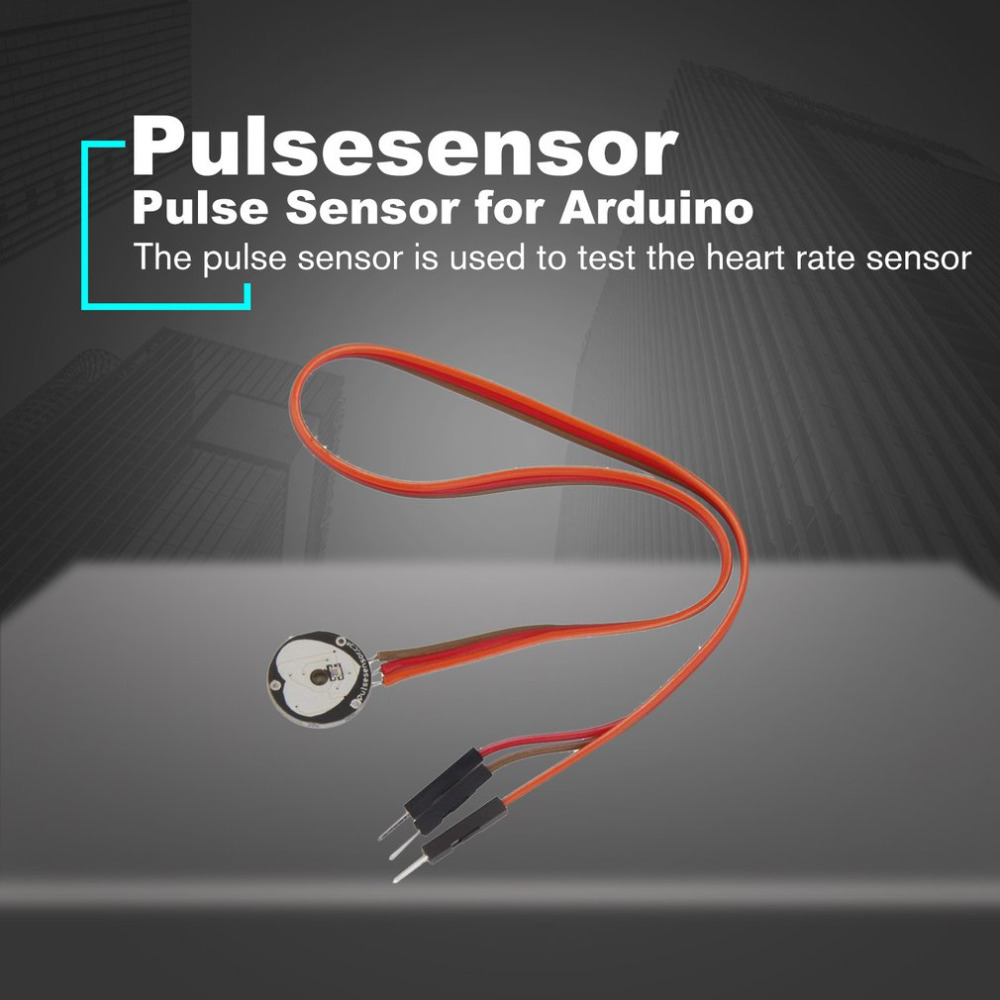 US $2 71 15% OFF Pulsesensor Heart Rate Beat Pulse Sensor Module Amplifier  for Arduino Raspberry Pi Open Source with Cable Electronic DIY Tool-in