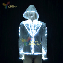 Luminous Costumes SW2812/2813/5050 LED Hoodies Glowing Jacket Luminous Suits Men LED Clothing Party Dance Accessories