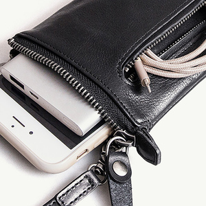 Image 5 - AETOO Head cowhide male small crossbody bag leisure trend leather female mobile phone bag change bag with card position