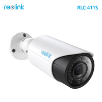 Reolink HD 4MP PoE IP Camera Zoom SD Card Storage Auto Focus Bullet Waterproof Outdoor Security Cam RLC-411S