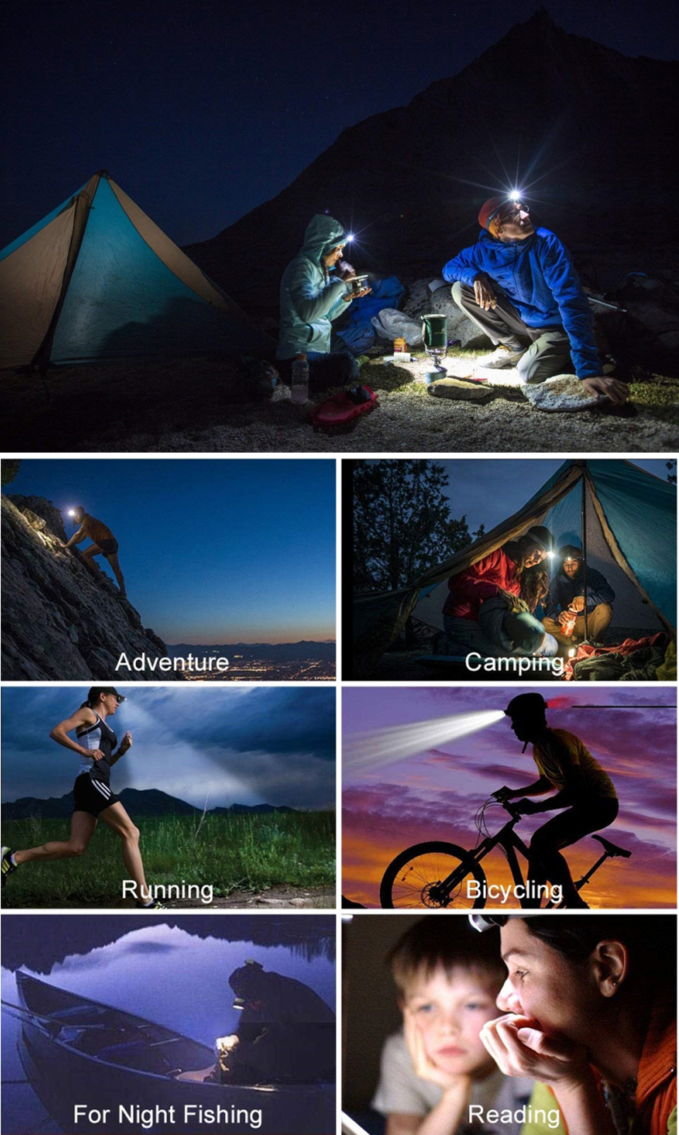 Adventure Camping Running Bicycling For Night Fishing Reading