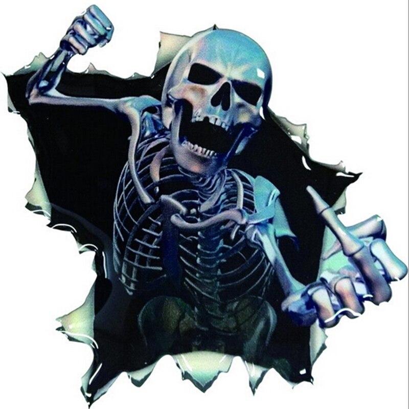 ツ)_/¯Car styling vinilo cráneo esqueleto Adhesivos ventana ...