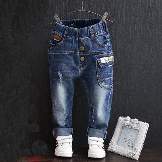 Ковбойские брюки джинсы зима весна мода мальчик девочка джинсы детские развлекательные буквы для вашего джинсы
