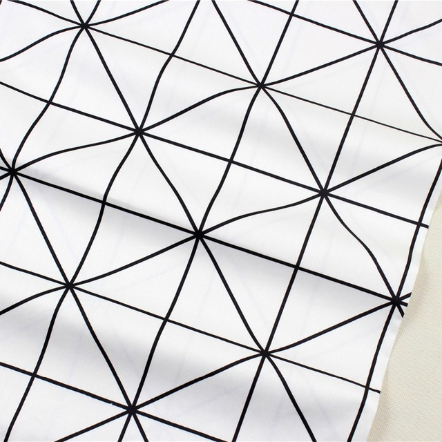 1582774 ,Free shipping 50cm*150cm Geometry Series cotton fabric,diy handmade patchwork cotton cloth home textile