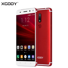 XGODY Smartphone 5.5 Inch 4G LTE Dual Sim MTK6737 Quad Core 2+16G Touch Mobile Phone Android 7.0 Nougat Fingerprint ID Cellphone