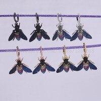 新しいデザイン高品質3 pairsファッション蜂昆虫バグイヤリングギフト用レディ昆虫イヤリングカラフルなジュエリーイヤリング2716