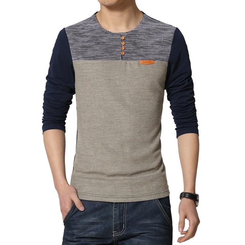 Hot 2019 New Spring Fashion Brand O-Neck Slim Fit Long Sleeve T Shirt Men Trend Casual Men T-Shirt Korean T Shirts 4XL 5XL