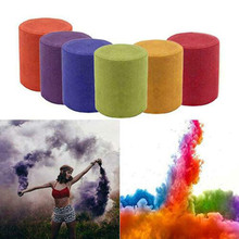 Smoke Cake 2019  1pcs Colorful Effect Show Round Bomb Stage Photography Aid Toy Gifts