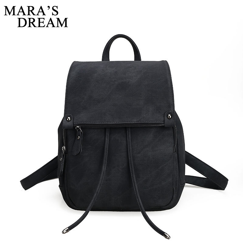 Mara's Dream Travel Bag New Retro High Quality Canvas Women Bag Large Capacity Casual Solid Color Multifunction Girls Backpacks