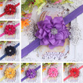 New Style Rhinestone Flower Headwear Kid Baby Girl Infant Toddler Headband Hair Bow Band Accessorie