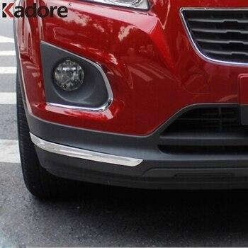 Chevrolet Trax 2014 için 2015 2016 ABS Krom Araba Ön Arka Tampon Koruyucu Trim Şerit Dekorasyon Kapağı Dış Aksesuarlar