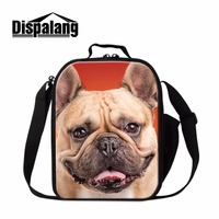 Cute Lunch Cooler Bags For Men Work Dog 3D Pattern School Lunch Container For Boys Girls
