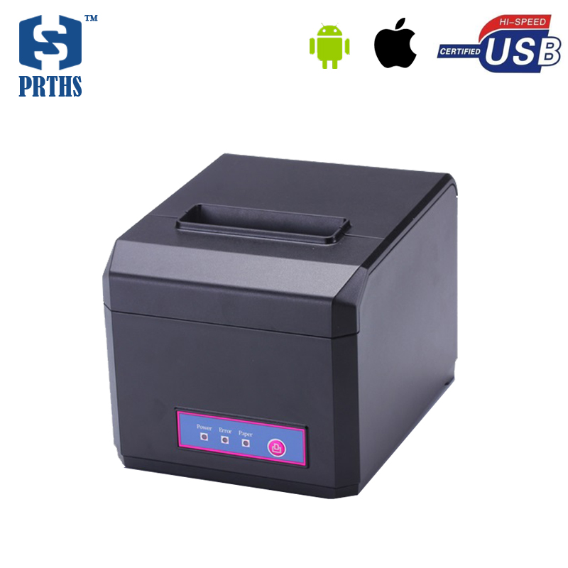 58 & 80mm thermal POS receipt printer with bluetooth for IOS & Android USB printer machine wrong paper alarm impresora HS-E81UAI