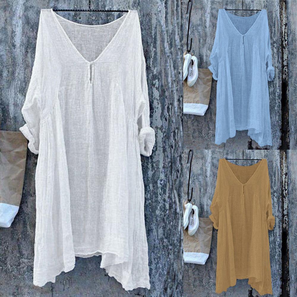 Блузка женская, летняя, с треугольным вырезом, белая|Блузки и рубашки|   | АлиЭкспресс