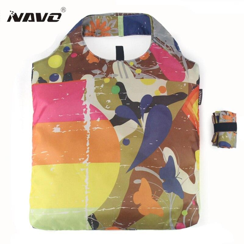 NAVO Eco Tote Bag Foldable Reusable Shopping Bag Polyester Folding Shopping Bag Tote Shopper Bolsas De La Compra Reutilizables