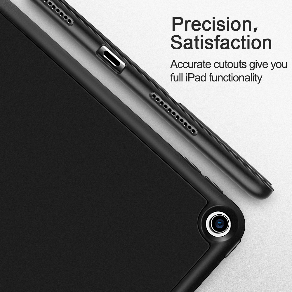 ESR Case for iPad Air 3 Mini 5 7 2019 Folio Rubber Oil Cover Ultra Slim Smart Pencil Slot Soft TPU Case for iPad 7 7th 10.2 2019