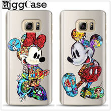 For Samsung Galaxy J3 J5 J7 A5 A3 A7 2017 Cover Cute mickey Minnie Phone Case For Samsung A6 A8 A7 J6 J4 A9 2018 Soft TPU Cover(China)