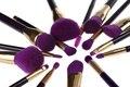 15 Unids Profesional compone el Sistema de Cepillos Fundación Colorete Powder Eyeshadow Blending Ceja Cepillos Cosmético Púrpura Herramientas