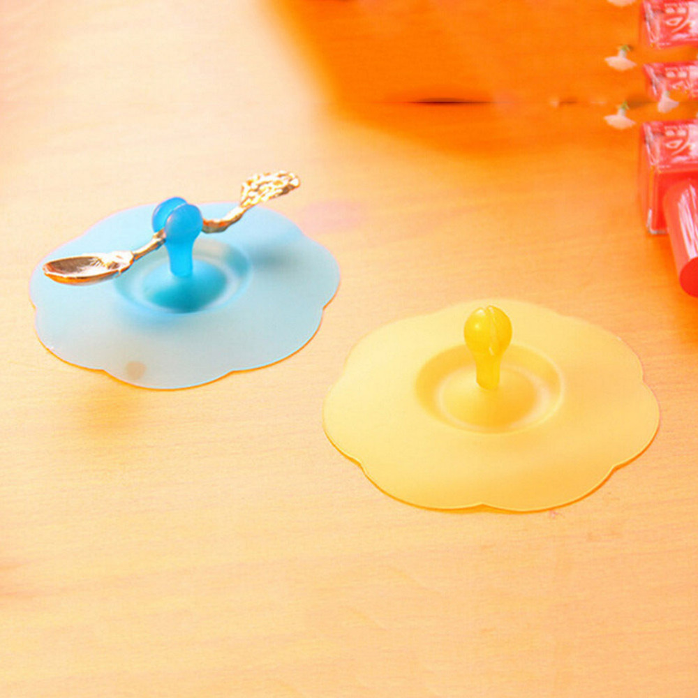 10.3cm Anti-dust Cup Cover Cartoon Cup Cover Novelty Gift Can Be Fixed a Spoon