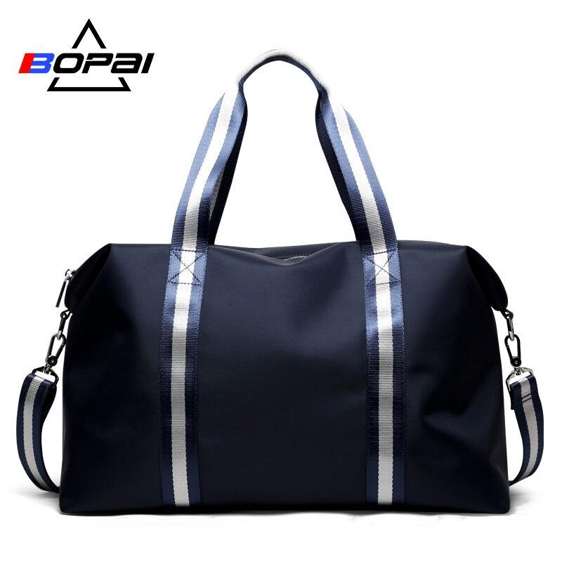 BOPAI 2018 Големи пътни чанти с тиня Pocket Мъже Crossbody Пътни чанти Anti Scratch Жени Случайни Duffle чанти