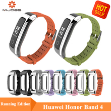 Mijobs Silicone Sports Wrist Strap For Huawei Honor Band 4 Running Wristband Smart Watch Bracelet for Accessories