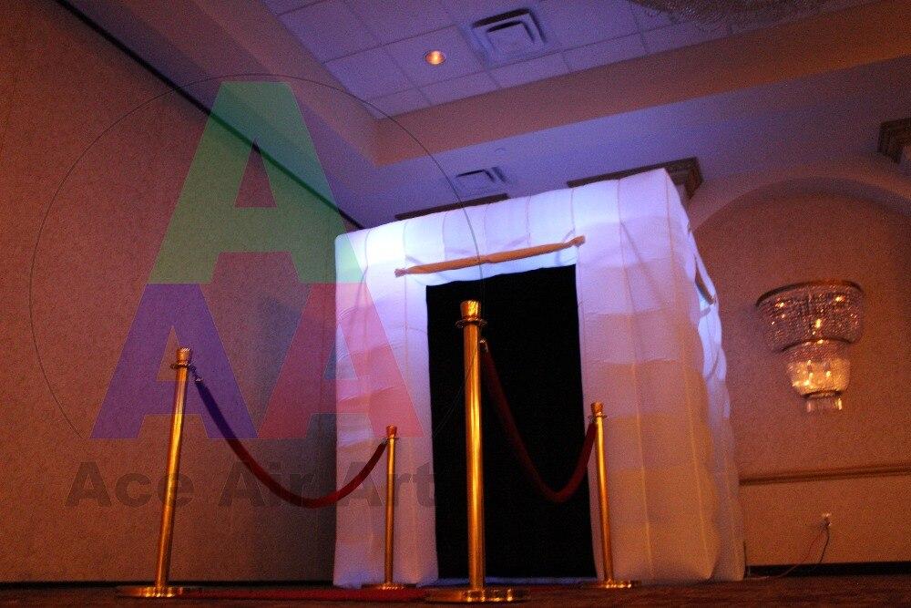 Новый стиль квадратный Светодиодный Надувные Photo Booth/надувные Photobooth для вечерние