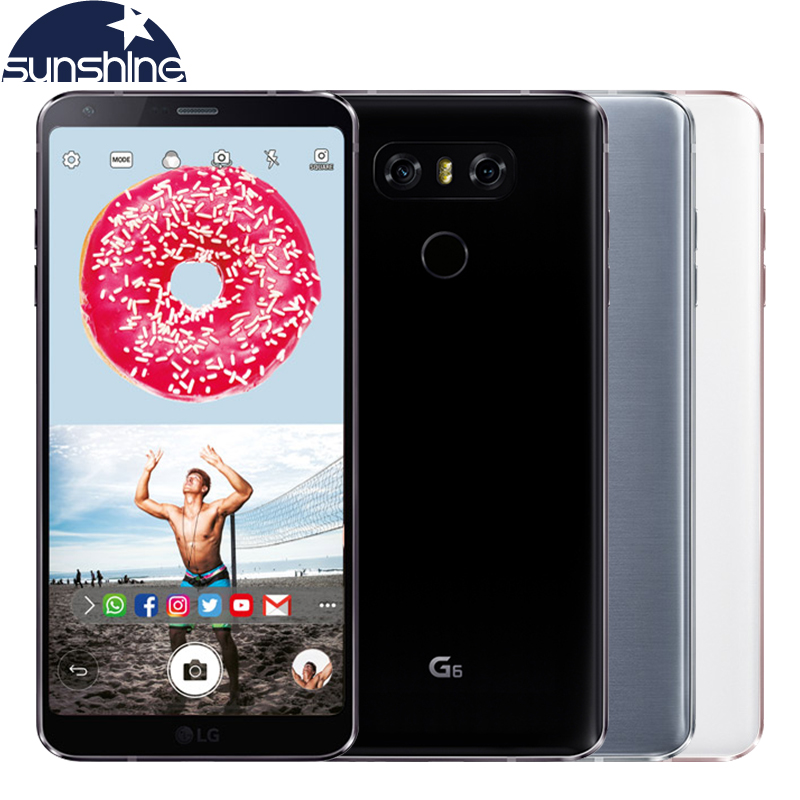 Original Unlocked LG G6 H870DS 4G LTE Mobile phone Quad-core 4G RAM 64 ROM 5.7' 13.0MP Dual SIM Cellphone