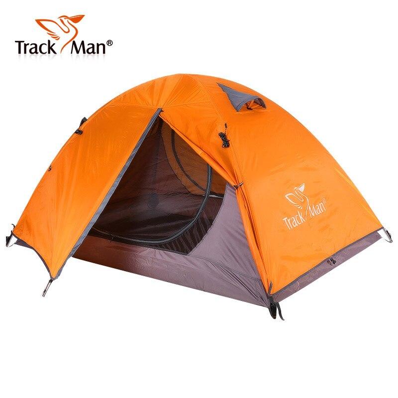 Trackman Tente Extérieure Étanche 2 Personne D'une Chambre Double Couches 3 Saison Tente Pique-Nique Randonnée Tentes