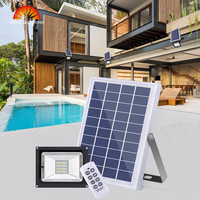 Super Bright Solar Light Remote Control Solar Flood Light Waterproof IP65 Outdoor Garage Garden Pathway Swimming Pool Solar Lamp