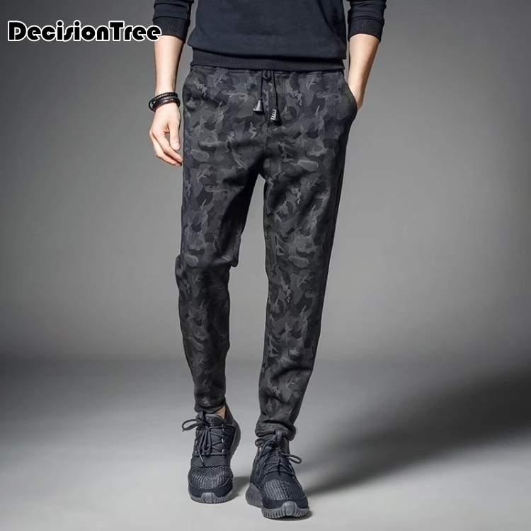 2019 Men Casual Chef Hotel Cook Service Waiter Restaurant Office Male Elastic Band Trousers Pant Home Wear