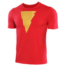 Shazam Fashion T shirts Men  Anime Shirt 2019 New Summer Short Sleeve Stretch Tshirt Gym clothes