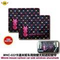 Accesorios del coche del ratón de Minnie de dibujos animados ventana side car sun shades (1 Par) envío libre MNC-002