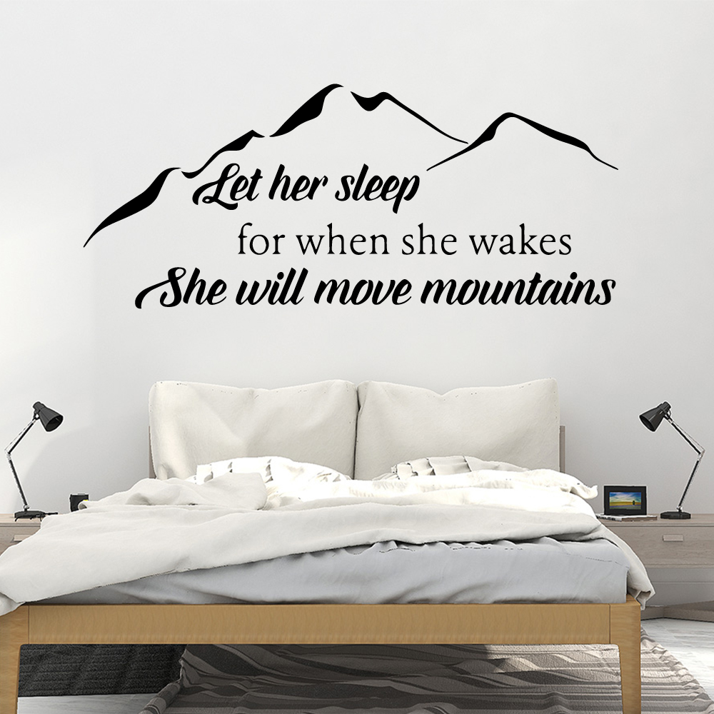 Cartoon Mountain Wall Art Decal Wall Stickers Pvc Material For Kids Room Living Room Home Decor Wall Art Decal naklejki in Wall Stickers from Home Garden