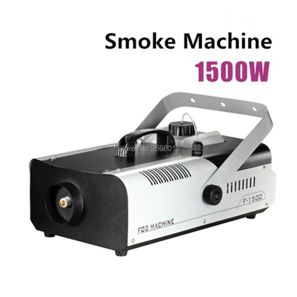 1500W Remote Or Wire Control Smoke Machine/1500W Fogger/Stage Fog Machine DJ Equipments/Smoke Generator For Oil Liquid Spraying niugul 1500w fog machine smoke machine stage mist effect 110v 240v remote wire control for disco dj party spray up fogger maker