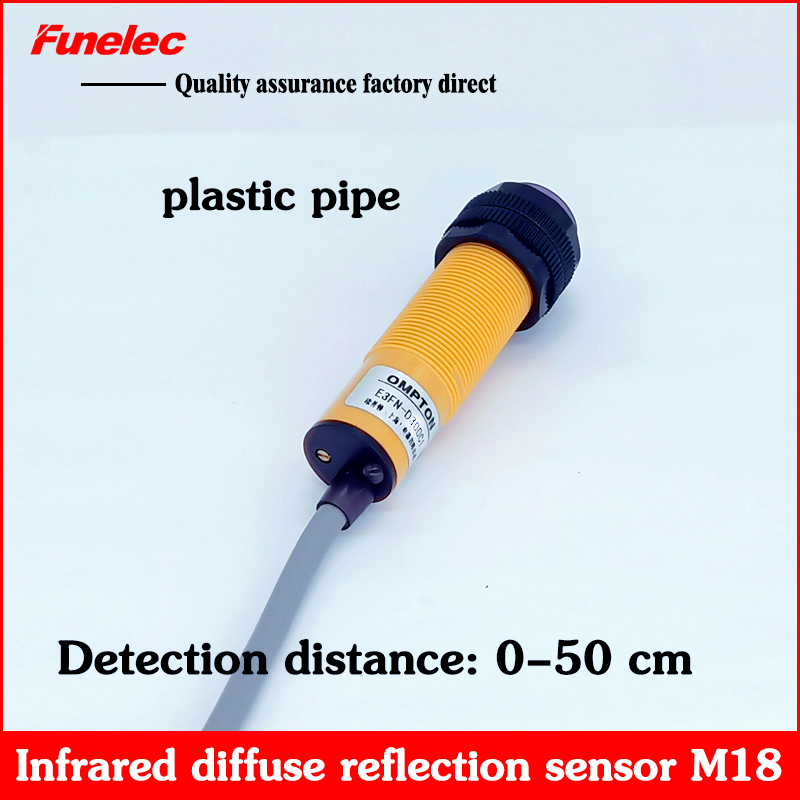 Infrared Sensor Photoelectric Switch Sensor E3FN-D50C1 DC Three-wire NPN NO Normally Open 24V Diffuse Reflection 50