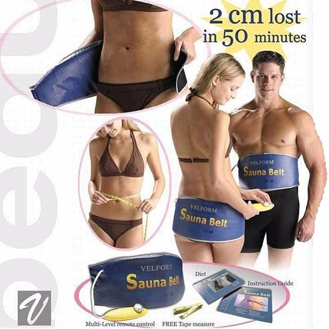 Cinturón de Sauna de adelgazamiento corporal de forma de Velcro masaje de abdomen para pérdida de peso calefacción herramienta de quema de grasa ab Gymnic cinturón celulitis Relax