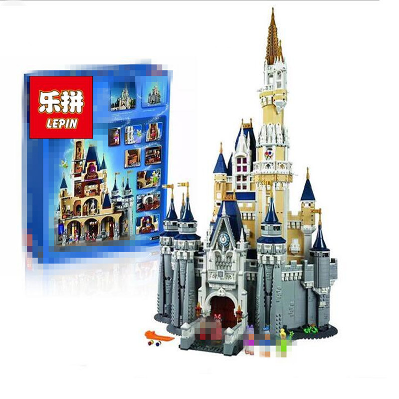 4080pcs Movie Cinderella Princess Castle City Street Creators 16008 Friends DIY Model Building Blocks Toys Compatible with lepine 16008 cinderella princess castle 4080pcs model building block toy children christmas gift compatible 71040 girl lepine