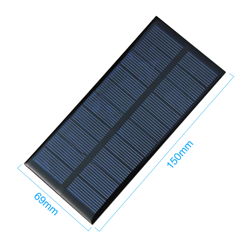Aiyima 2Pcs 1.5W 5V 300MA Solar Panels Solar Battery Power Charging Solars DIY Electric Toy Materials Photovolta Charger 150x69