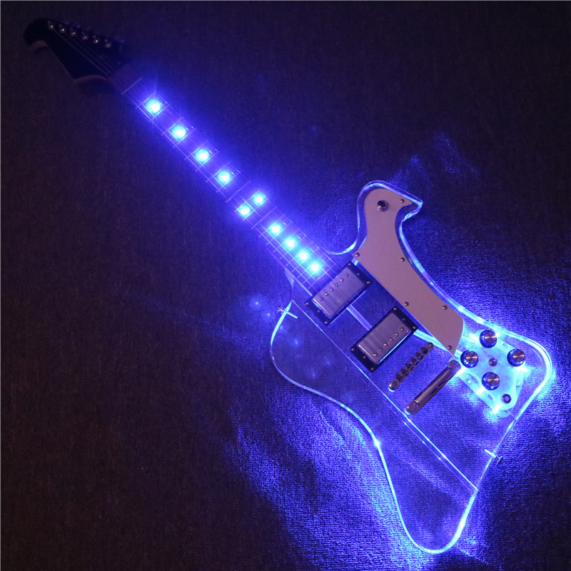 Afanti Music New design Acrylic Body Firebird Electric guitar with Blue LED lights (PAG-128)Afanti Music New design Acrylic Body Firebird Electric guitar with Blue LED lights (PAG-128)