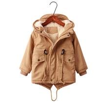 เด็กฤดูหนาวเสื้อขนแกะสำหรับเสื้อผ้าเด็ก Hooded Warm Outerwear Windbreaker เด็กทารกเสื้อผ้าเสื้อ 3 4 5 6 7 8 9 ปี