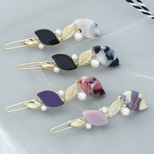 1Pc Women Metal Pearl Hairpins Headwear Acrylic Hair Clips Pins Barrette Styling Tools Accessories