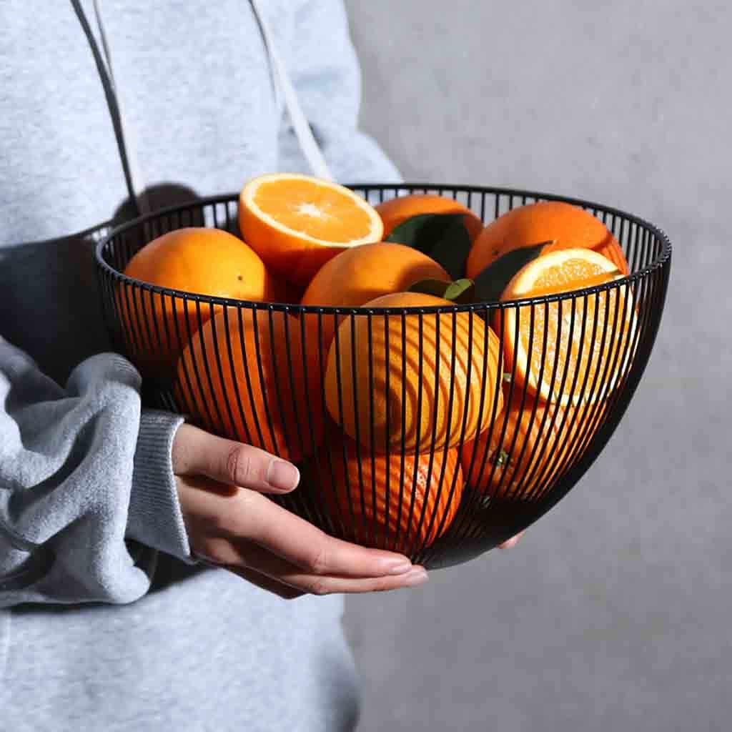 Fruta Vegetal Cesta de Arame de Metal Tigela Cozinha Fruta Vegetal Cesta Bandejas de Armazenamento de Cozinha Rack de Armazenamento De Desktop Titular