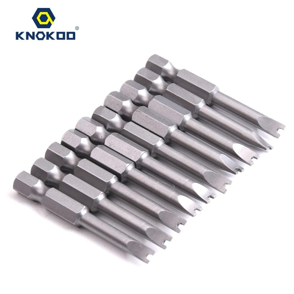 Knokoo 10pcs/lot 1/4*50*u4.5 Screwdriver Drill Bit 50mm Screw Driver Bits Hex 6.35 Shank Magnetic U Shaped Driver Bits Power Tools