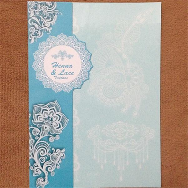 1pcs Bijela tetovaža cvijet cvijet Vodootporan privremene tetovaže - Tetovaže i tjelesna umjetnost - Foto 3