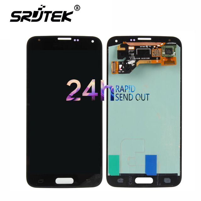 Warranty 5.1'' Super AMOLED LCD for SAMSUNG Galaxy S5 LCD Display i9600 G900 G900F G900M G900H SM-G900F Touch Screen Digitizer
