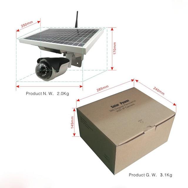 Wireless waterproof battery power ip camera solar camera 6