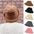 Women Ladies Knitted Crochet Bucket Outdoors Hat Winter Warm Ski Hats Caps HATBD0035