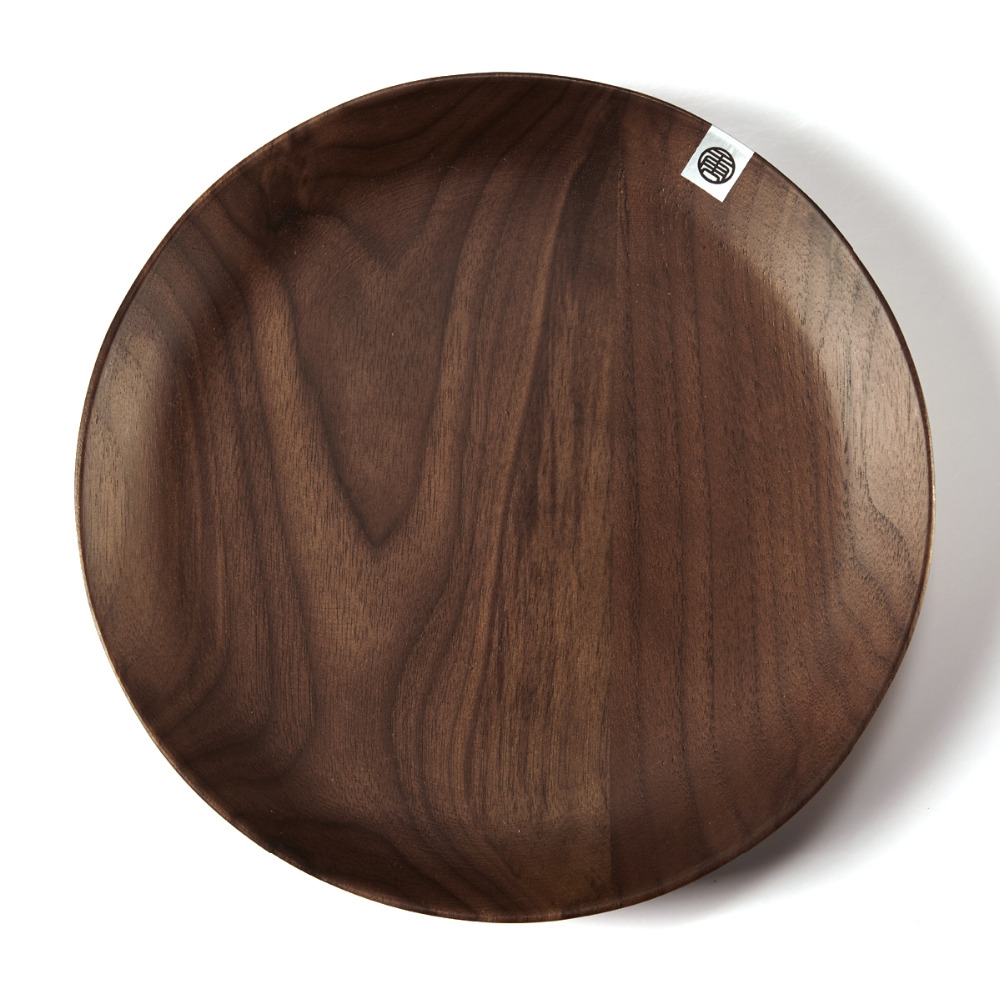 1Pc Homestia 15Cm20Cm Black Walnut Wood Round Dark Brown -9534