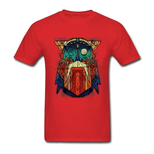 Geometric Modern Odin Vikings T Shirt Big Size Short Sleeve Tshirt Men 2017 New Geek Cotton Funny T-shirts 1